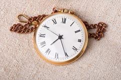 Relógio de bolso velho fotos de stock