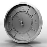 Relógio de Chrome no branco Fotografia de Stock Royalty Free