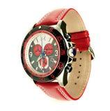 Relógio de couro Fotografia de Stock