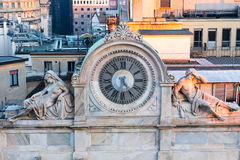 Relógio de mármore velho em Milão Fotografia de Stock Royalty Free