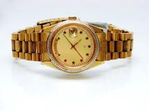 Relógio de ouro Foto de Stock Royalty Free