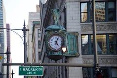 Relógio de ponto, Chicago do centro, Illinois fotografia de stock royalty free