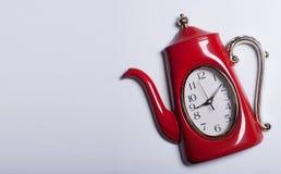 Relógio de ponto do café do chá Imagens de Stock