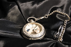 Relógio de prata Foto de Stock Royalty Free