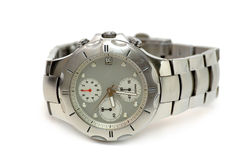 Relógio de prata Fotos de Stock