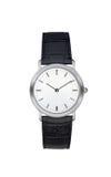 Relógio de pulso de prata isolado com trajeto de grampeamento Imagem de Stock Royalty Free