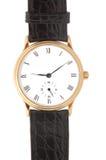 Relógio de pulso isolado do ouro Fotografia de Stock