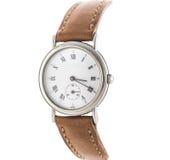 Relógio de pulso luxuoso do Mens no branco Imagens de Stock Royalty Free