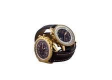 Relógio de pulso luxuoso dos homens no branco Imagem de Stock Royalty Free