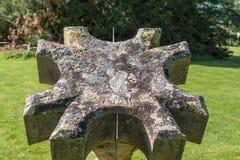 Relógio de sol na casa de Dumfries em Cumnock, Escócia, Reino Unido imagens de stock royalty free