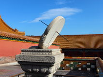 Relógio de sol no palácio imperial Fotografia de Stock