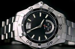 Relógio do aço inoxidável imagem de stock royalty free