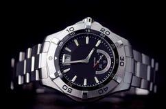 Relógio do aço inoxidável imagem de stock
