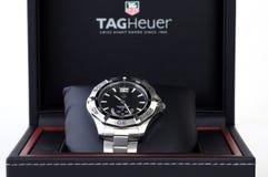 Relógio do aço inoxidável foto de stock royalty free