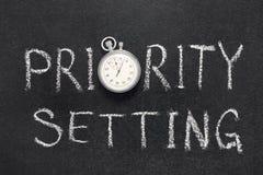 Relógio do ajuste de prioridade fotografia de stock