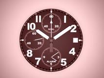 Relógio do esporte rendido no vermelho ilustração do vetor