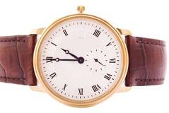 Relógio do homem isolado no fundo imagem de stock royalty free