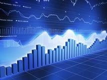 Relógio do mercado de valores de acção de Serieswith do gelo Foto de Stock