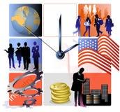 Relógio do negócio Fotos de Stock Royalty Free