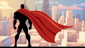 Relógio 2 do super-herói ilustração royalty free