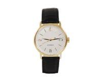Relógio do vestido do ouro Foto de Stock Royalty Free