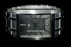 Relógio do vestido dos mens de prata Fotografia de Stock