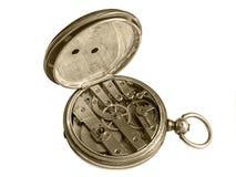 Relógio do vintage no branco Imagem de Stock Royalty Free