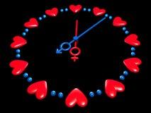Relógio dos Valentim Ilustração do Vetor