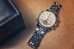 Relógio dourado Imagem de Stock Royalty Free