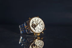 Relógio dourado Foto de Stock
