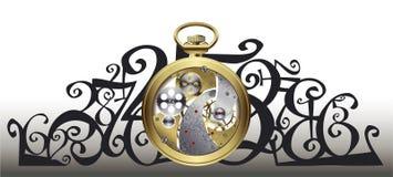Relógio dourado para dentro Fotografia de Stock