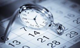 Relógio e calendário de bolso Fotos de Stock Royalty Free