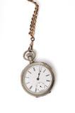 Relógio e corrente de bolso do vintage imagem de stock royalty free