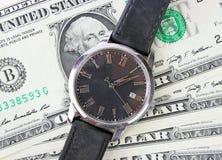 Relógio em dólares Fotografia de Stock