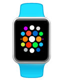 Relógio esperto com apps Foto de Stock