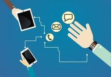 Relógio esperto conectado aos dispositivos Imagens de Stock