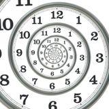 Relógio espiral, rendição 3D Foto de Stock Royalty Free