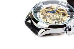 Relógio luxuoso isolado no fundo branco Fotos de Stock Royalty Free