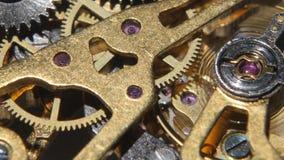 Relógio mecânico Fim acima video estoque
