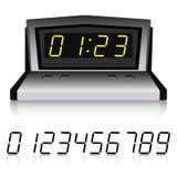 Relógio metálico com grupo de números ilustração stock