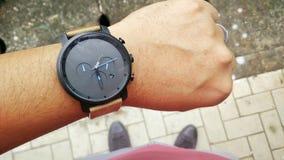 Relógio minimalista Fotografia de Stock