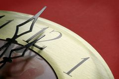 Relógio na meia-noite fotografia de stock