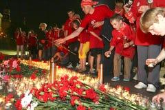 Relógio patriótico da memória da ação da juventude Fotografia de Stock