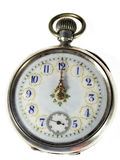 Relógio sobre o branco Fotos de Stock Royalty Free