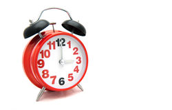 Relógio vermelho grande do metal Imagem de Stock