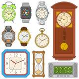 Relógios ajustados ilustração stock