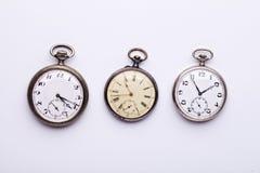 3 relógios de bolso Fotos de Stock