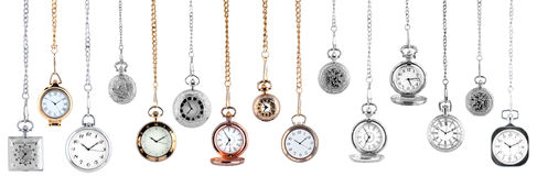 Relógios de bolso do vintage Foto de Stock Royalty Free