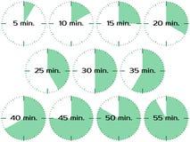 Relógios de ponto diferentes Foto de Stock