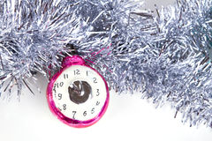 Relógios do brinquedo da árvore de Natal Imagem de Stock